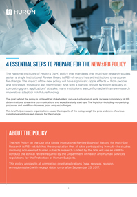 4 Essential Steps to Prepare for the new sIRB Policy